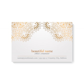 Design de cartão de visita de luxo
