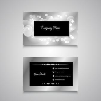 Design de cartão de visita de luzes de bokeh