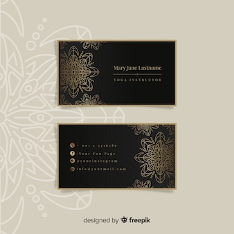 Design de cartão de visita de mandala e luxo