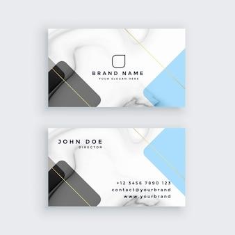 Design de cartão de visita de mármore criativo
