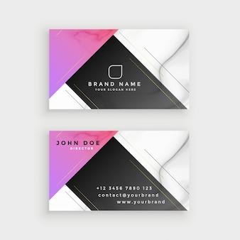 Design de cartão de visita de mármore estilo minimalista