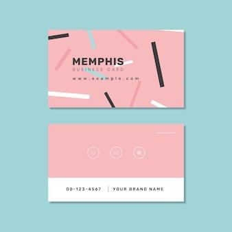 Design de cartão de visita de memphis