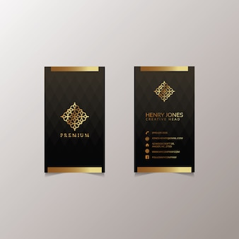 Design de cartão de visita de ouro
