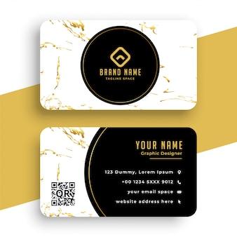Design de cartão de visita de textura de mármore criativa