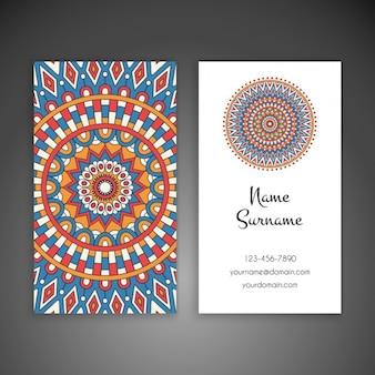 Design de cartão de visita do estilo boho