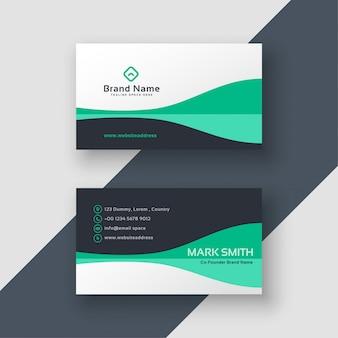 Design de cartão de visita elegante do escritório