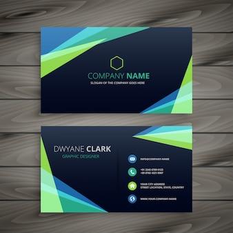 Design de cartão de visita elegante escuro abstrato