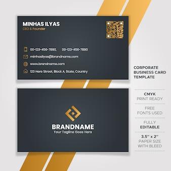 Design de cartão de visita elegante escuro