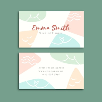 Design de cartão de visita em tons pastel