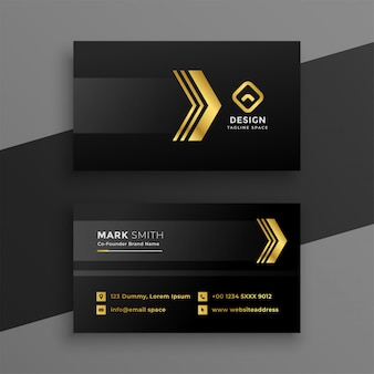 Design de cartão de visita escuro de luxo