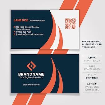 Design de cartão de visita escuro elegante