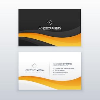 Design de cartão de visita escuro moderno