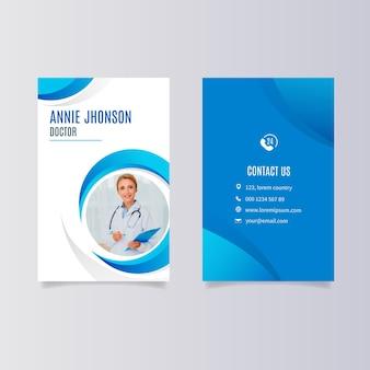 Design de cartão de visita frente e verso