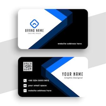 Design de cartão de visita geométrico elegante