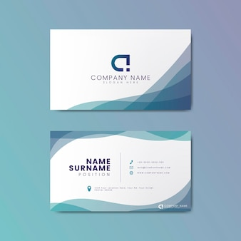Design de cartão de visita geométrico moderno