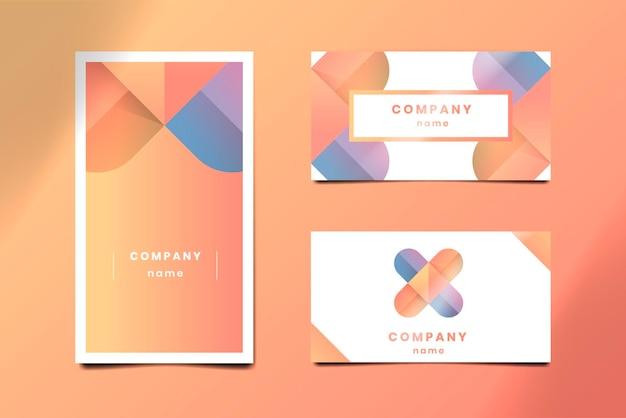 Design de cartão de visita laranja