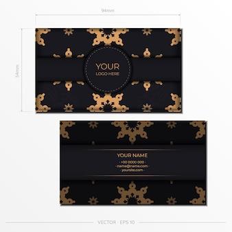 Design de cartão de visita luxuoso com ornamentos vintage abstratos. pode como plano de fundo e papel de parede romanos. elementos elegantes e clássicos são ótimos para decoração.