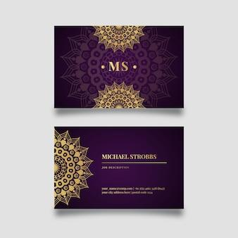 Design de cartão de visita mandala