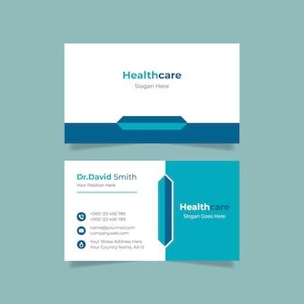 Design de cartão de visita médico