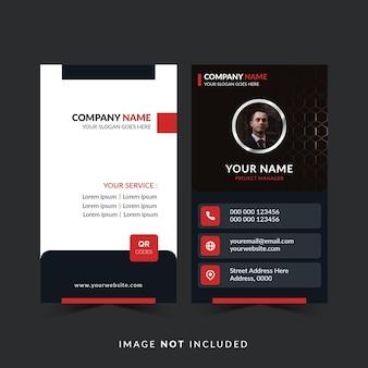 Design de cartão de visita minimalista com foto