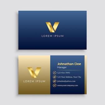 Design de cartão de visita minimalista elegante