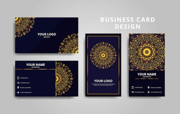 Design de cartão de visita moderno com ornamento de mandala