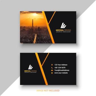 Design de cartão de visita moderno em conceito amarelo