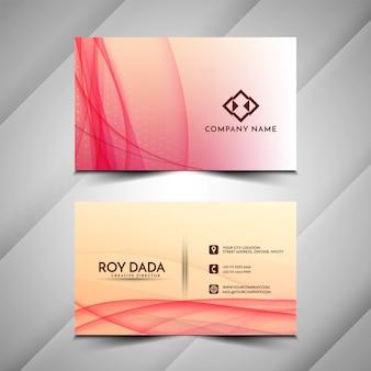 Design de cartão de visita moderno estilo onda