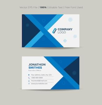 Design de cartão de visita ou cartão de visita e cartão pessoal