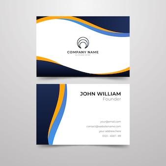Design de cartão de visita para fundador da empresa