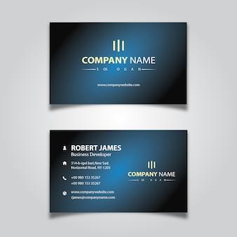 Design de cartão de visita para pessoal