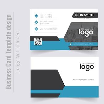 Design de cartão de visita pessoal corporativo