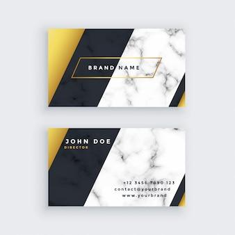 Design de cartão de visita premium em mármore