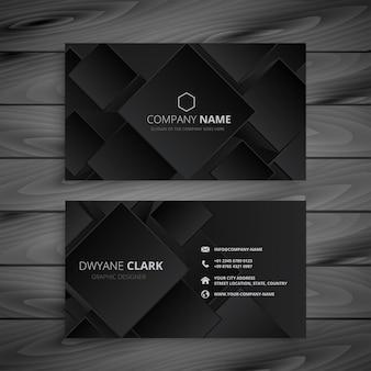Design de cartão de visita preto escuro