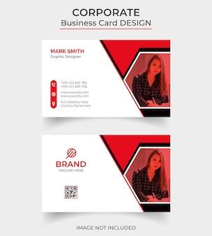 Design de cartão de visita profissional moderno