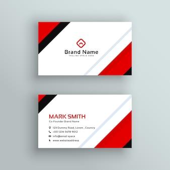 Design de cartão de visita profissional profissional moderno
