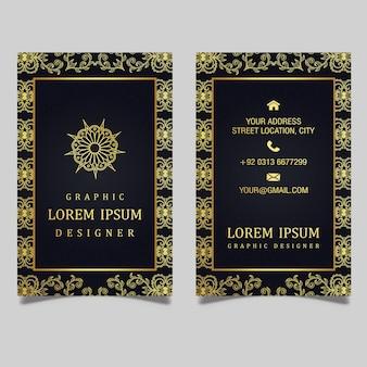 Design de cartão de visita real luxuoso