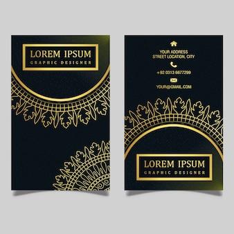 Design de cartão de visita real luxuoso Vetor Premium