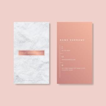 Design de cartão de visita rosa