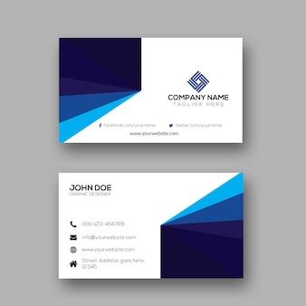 Design de cartão de visita simples criativo