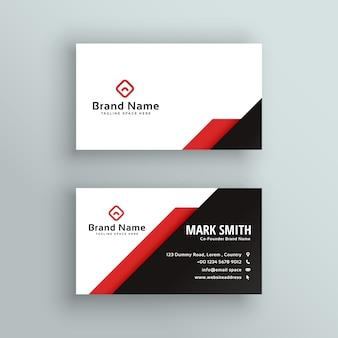 Design de cartão de visita vermelho e preto profissional