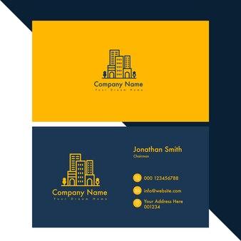 Design de cartão de visita vertical moderno para casa verde