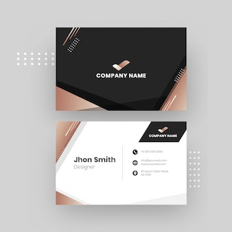 Design de cartão de visita.