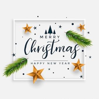 Design de cartão decorativo elegante festival de feliz natal