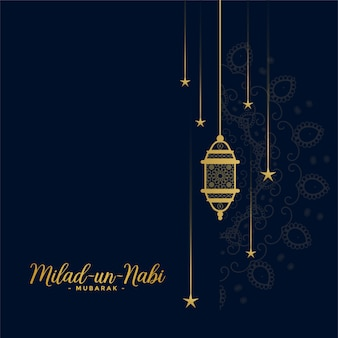 Design de cartão decorativo islâmico milad un nabi