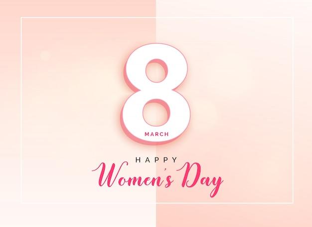 Design de cartão elegante do dia das mulheres felizes