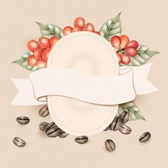 Design de cartão em branco para o dia do café