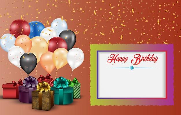 Design de cartão feliz aniversário