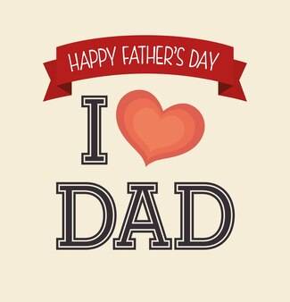 Design de cartão feliz dia dos pais.