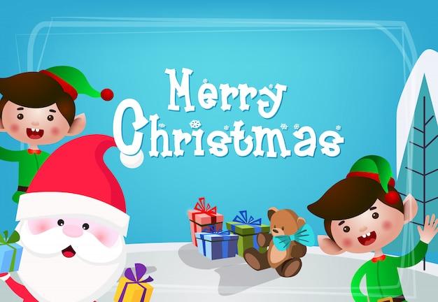 Design de cartão festivo de natal